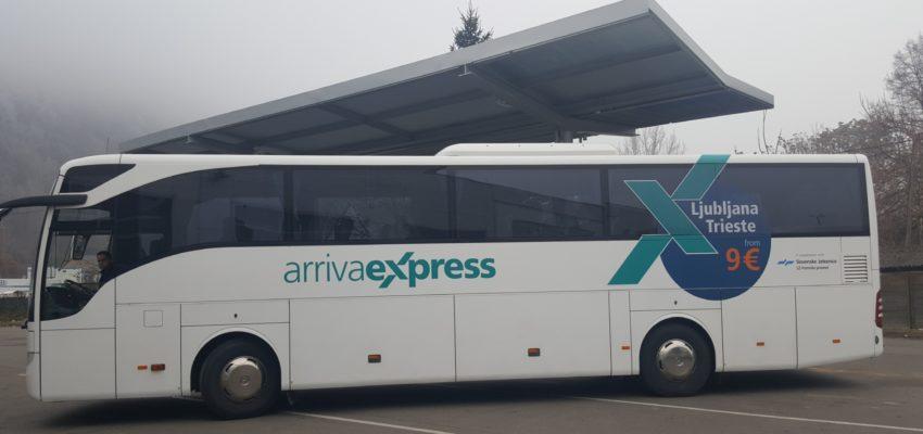 Obveščamo vas, da Arriva Express linija Ljubljana-Trst-Ljubljana od 12. 12.2018 naprej obratuje po spremenjenem, izven sezonskem voznem redu: