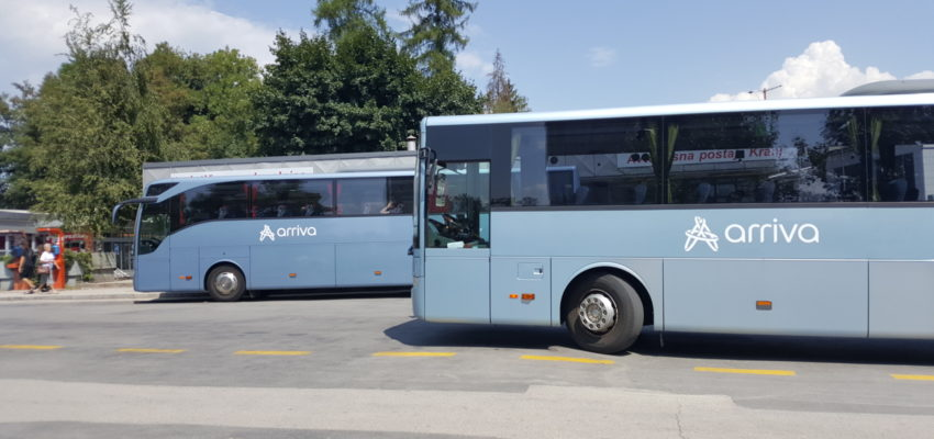 Dear passengers please be informed that due to a complete road closure at Bitnje, on 18. 8. 2019, from 06.00 till 18.00 o'clock, buses on relation Škofja Loka-Kranj (and back) will drive on a detour over Jeprca. Due to the detour following bus stops will not be operated: