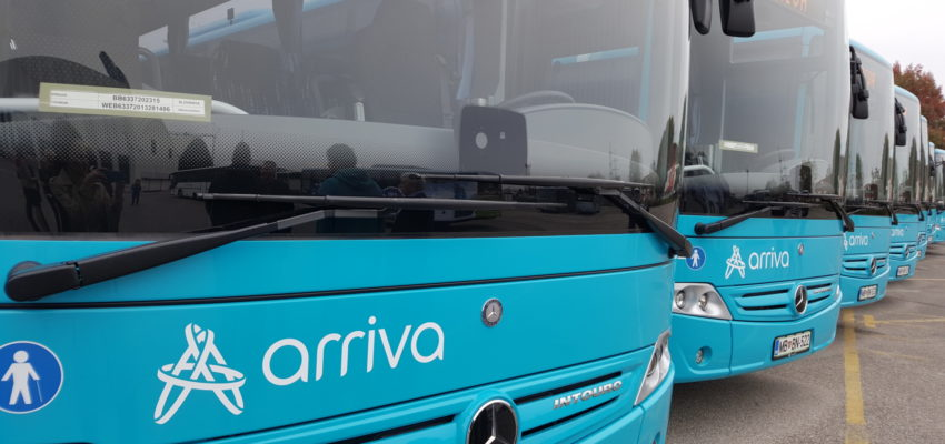 Dear passengers please be informed that timetables, valid during school vacation time (regime ŠP), will change at company Arriva Štajerska. Changes become valid on 28th October 2019: