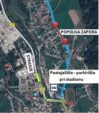 Dear passengers please be informed that due to construction works on Cankarjeva cesta in Mekinje, there will be a complete road closure on relation Mekinje – Godič on 20, 21 and 22 March 2019.