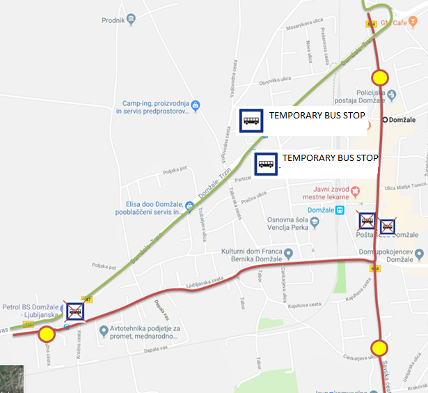 Dear passengers please be informed that due to en event on 1st May there will be a complete road closure of the regional Šentjakob – Domžale in Domžale–Kamnik in Domžale. Also, the bus stops in centre of Domžale (at VELE) and bus stop Domžale Petrol will not be operated.