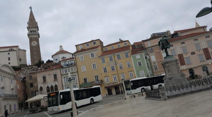 Na Tartinijevem trgu v Piranu so danes predstavili pet novih nizkopodnih Merzedes Benz Citaro K mestnih avtobusov. Eden od avtobusov je opravil tudi svojo prvo testno vožnjo do Portoroža, v redni mestni potniški promet na območju Pirana pa bodo novi avtobusi vključeni že jutri.