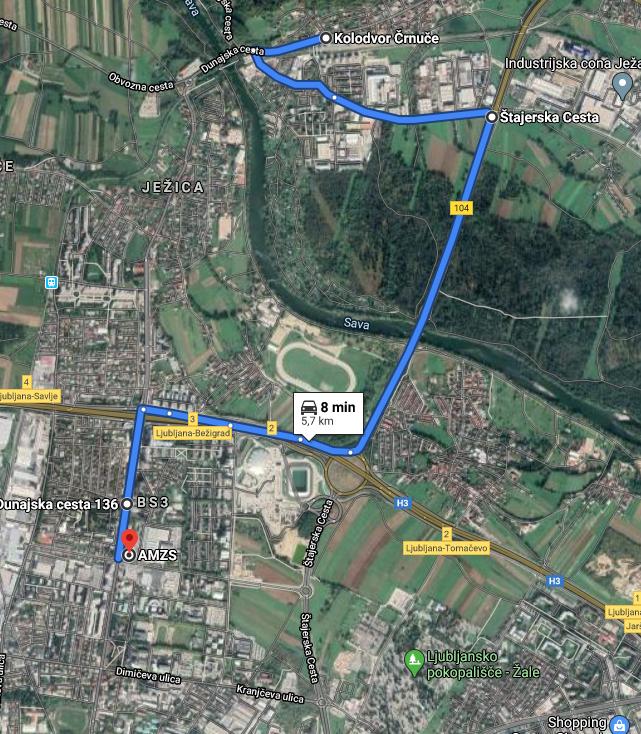 Zapora Dunajske ceste od prehodu čez železniško progo pri Ježici do postajališča Ruski car do predvidoma 30. avgusta 2020.