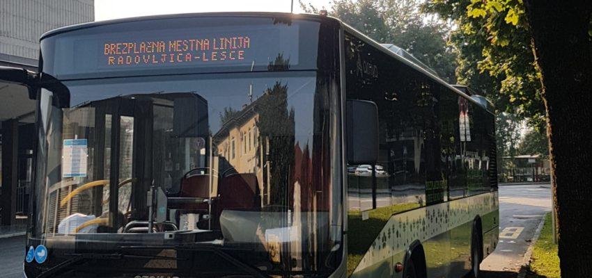 V Evropskem tednu mobilnosti bo od srede, 16. septembra, do vključno torka, 22. septembra 2020, na voljo brezplačni mestni avtobus na krožni liniji v Radovljici in Lescah.