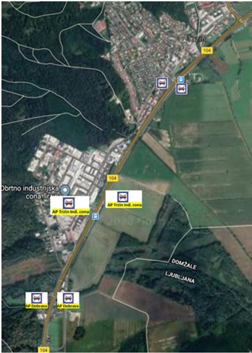 Obveščamo vas, da bomo v času delne zapore na Trzinsko obvoznici G2 104/0295 in 0795 Trzin-Ljubljana (Črnuče) in sicer: G2 104/0295 Trzin-Ljubljana (Črnuče) od km 0.550 do km 3.690 in G2 104/0795 Trzin-Ljubljana (Črnuče) od km 0.000 do km 3.690 potrebno začasno ukiniti 3 avtobusna postajališča od križišča Dunajske ceste do Mengeške ceste v smeri Črnuče-Domžale in 3 avtobusna postajališča od križišča Mengeške ceste do Dunajske ceste v smeri Domžale — Črnuče.