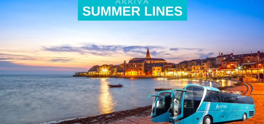 Dear passengers please be informed that our summer lines have already started to operate: