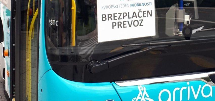 Obveščamo vas, da bo v sklopu projekta Evropskega tedna mobilnosti 2021 v sredo, 22. 9. 2021, na vseh avtobusih mestnega prometa na Jesenicah omogočen brezplačen prevoz.
